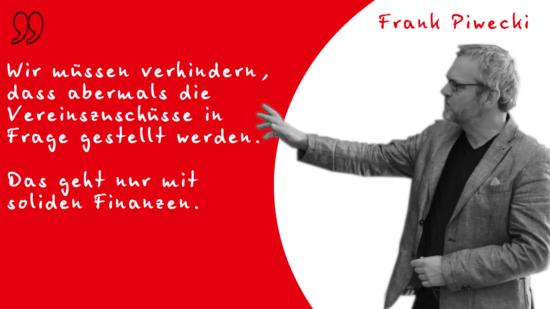 Frank Piwecki zu Vereinszuschüssen